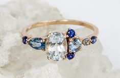 Rose gold wedding band Art deco vintage Princess diamond ring Unique Half eternity band pave Jewelry Anniversary Valentine's Gift for women - Fine Jewelry Ideas Genuine Emerald Rings, Emerald Ring Gold, Unique Diamond Rings, Blue Sapphire Rings, Emerald Jewelry, Unique Rings, Floral Engagement Ring, Perfect Engagement Ring, Vintage Engagement Rings