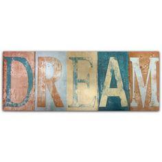 Dream Raised Words Wall Art #Dunelm #Decor #Home #LivingRoom