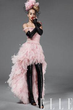 Rita Ora in Chanel Haute Couture for ELLE