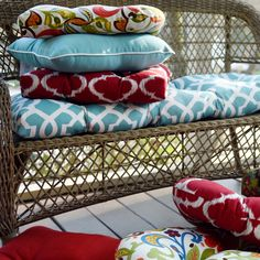 Take a seat and relax! Add comfort to your backyard furniture with our selection of outdoor cushions & pillows. Our outdoor furniture cushions will add a beautiful burst of color to complement any patio area. Plus, it will make those long summer night chats even more enjoyable.