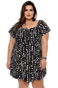 Vestido Plus Size Hyara Babe, Vestidos Plus Size, Looks Plus Size, Plus Size Beauty, Fashion Beauty, Womens Fashion, Skinny Girls, Looking For Women, Plus Size Fashion