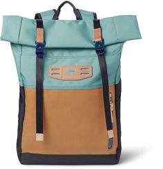 45a4f6e46fe Master-Piece - Hedge Leather and Canvas Backpack   MR PORTER Back Bag,  Canvas
