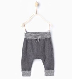 Contrasting knit trousers-Leggings & Trousers-Mini (0-12 months)-KIDS | ZARA United States