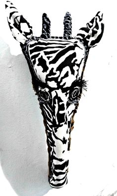 Shop our collection of textile hunting trophies. These unique trophy-style designs feature African animals including Antelope, Elephant, Giraffe and Zebra. Handmade in South Africa from hand-printed fabrics and organic materials. Hand Printed Fabric, Printing On Fabric, Giraffe, Elephant, African Animals, Moose Art, Textiles, Hand Painted, Prints