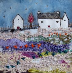 'The farm on tilt lane'  by Louise O'Hara of DrawntoStitch  https://www.facebook.com/DrawntoStitch