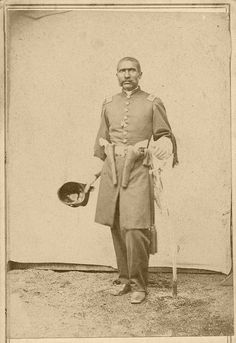 First Lieutenant William Dominick Matthews, of the U.S. Colored Light Artillery, In addition, Matthews helped recruit many black soldiers. Before the Civil War, Matthews ran a boarding house in Leavenworth, Kansas, that was part of the underground railroad. The Leavenworth businessman soon was appointed captain, the highest ranking African American officer in the regiment. More extensive historical story at the link!