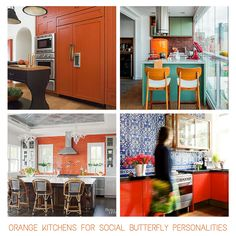 Orange kitchens for the 'Social Butterfly' Personality - read the blog post for other personality matches