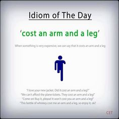 Idiom of the day Grammar And Vocabulary, English Vocabulary, English Grammar, Teaching English, English Language, Grammar Lessons, Idioms And Phrases, Sayings And Phrases, English Writing Skills