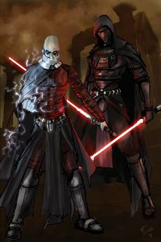 Revan and Malak by theworldjoker on @DeviantArt