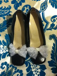 Lace & Satin Shoe Clips on Etsy