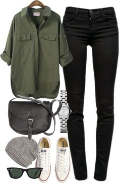 A fashion look from January 2013 featuring J Brand, converse sneakers and Marc by Marc Jacobs. Browse and shop related looks. Casual Winter Outfits, Casual Fall Outfits, Classy Outfits, Stylish Outfits, Smart Casual Outfit, Fashion Mode, Look Fashion, Womens Fashion, Mode Outfits