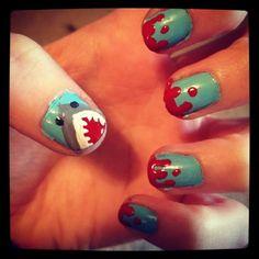 @Jen A. Hyziak: Nail art tutorial - shark nails!
