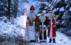 Tradições de Natal pelo mundo - São Nicolau e seus três amigos: Papai Noel, Knecht Ruprecht e...um burro