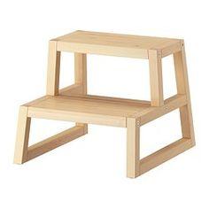 IKEA - MOLGER, Taburete escalón, marrón oscuro, 41x44x35 cm,