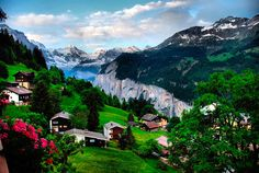 Wengen, Switzerland.....who wouldn't want to spend some time here....looks peaceful