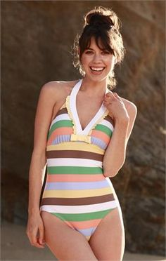 Love this...when I wanna go into the ocean and swim or body surf and bikini won't do!  So cute!