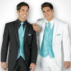 I prefer the white and teal tux ;)