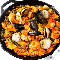 Paella, Seafood paella and Seafood on Pinterest