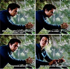 Find images and videos about teen wolf, dylan o'brien and stiles stilinski on We Heart It - the app to get lost in what you love. Stiles Teen Wolf, Teen Wolf Dylan, Teen Wolf Cast, Memes Teen Wolf, Teen Wolf Quotes, Teen Wolf Funny, Tv Quotes, Dylan O'brien, Crystal Reed