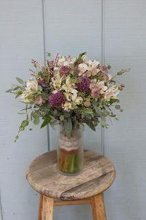 Bloom & Vine Rustic bouquet in purples