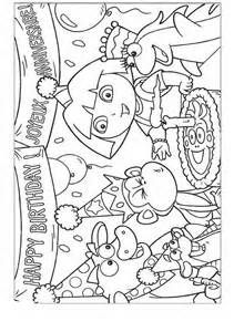 Dora the Explorer Kids Coloring Pages Free Colouring Pictures to