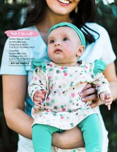 Cute knit baby girl outfit  #ArtGalleryFabrics #baby #babygift #babyshower #nursery #sewing #diy #Pattern