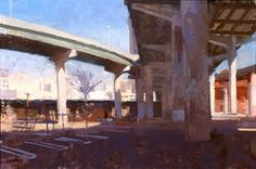 "Saatchi Art Artist Frank Hobbs; Painting, ""Shockoe Bottom, Richmond, Virginia"" #art"
