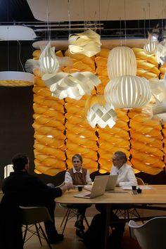 LZF Lamps at Kortrijk. Biennnale Interieur 2014 #lzfINTERIEUR14 #INTERIEUR14 #WoodLighting #WoodLamps #WoodProducts #LZFLamps #WoodVeneerLighting #DesignerLighting #WoodVeneer