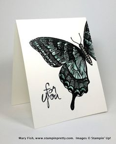 stampinup mary fish stamping pretty swallowtail