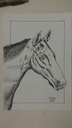 Cavalo em nankin, por Natália Pessini.