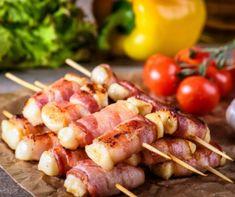 Sonkás-sajtos rakott csirkemell Recept képpel - Mindmegette.hu - Receptek Barbecue, Bacon, Bon Appetit, Carne, Shrimp, Sausage, Grilling, Beverages, Food And Drink