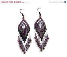 20 Off SALE Purple and White Native American Style by Anabel27shop