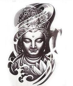 Tatuaje temporal de hombre Pegatina de arte corporal A prueba de agua Cubierta De La Cicatriz-Buda Lotus