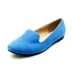 Blue suedette flat shoes / slipper pumps - Ballerinas für frauen (*Partner-Link)