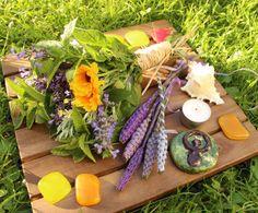 altar setting for litha