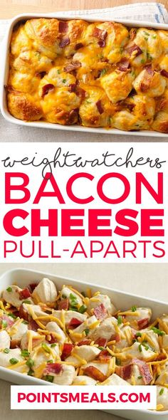 BACON-CHEESE PULL-APARTS WITH WEIGHT WATCHERS SMARTPOINTS