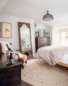 English Country House | #white #country #bedroom | See more at…