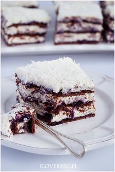 Ciasto princessa zebra - I Love Bake Cake Recipes, Dessert Recipes, Vegan Junk Food, Yummy Food, Tasty, Vegan Smoothies, Vegan Kitchen, Polish Recipes, Vegan Sweets