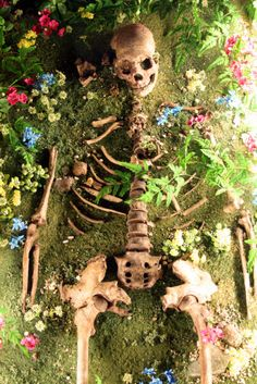 memento mori. I guess these ppl could not afford castket sad But freak out when I seen bones