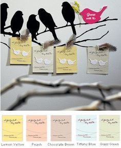 Love Birds Personalized Seed Favor Cards (Sets of 12) from Wedding Favors Unlimited