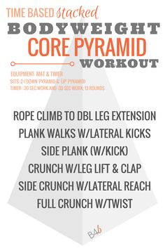 core pyramid workout