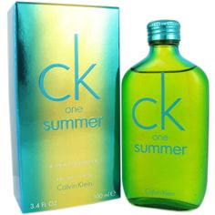 Refreshing and icy notes of grapefruit and lime in the top are combined with juicy melon in CK one Summer