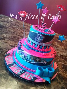 Monster High Cake  https://www.facebook.com/ItsAPieceofCakeWV