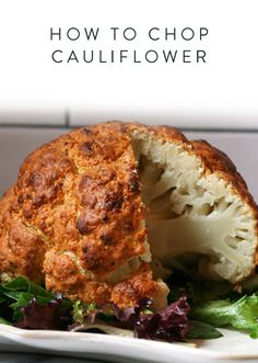 How to Chop Cauliflower. It doesn't get much more healthy than cauliflower. Here's how you chop this vegetable to add it to salads, make delicious side dishes or roast the entire cauliflower.