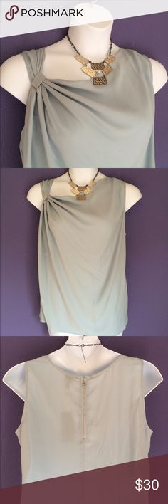 """New Listing  6th & Lane Lt. Blue Blouse NWT - GORGEOUS!  Everyone will be looking at you with this top!  The back has a zipper (shown in picture #3).  Material: 100% Polyester. Measurements:  Length - 25.5""""/Bust - 25"""" 6th & Lane Tops Blouses"""