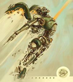35 Futuristic Illustrations of Robot Art | Webdesigner Depot