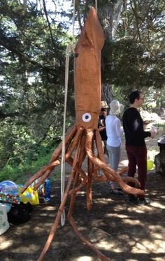 GIANT squid piñata at a treasure-hunt-themed birthday party!!