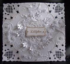 #papercraft #card Wedding card