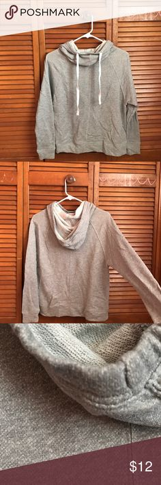 Drawstring Cowl Neck Hoodie An ideal for a casual, stylish look. This hoodie gives a lightweight feel, a must for a chilly summer night! Tops Sweatshirts & Hoodies