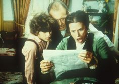 Harriet's Happenings...Willie (Jonathan Gilbert, l.), Mr. Oleson (Richard Bull, M.) und Mrs. Oleson...